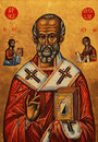 Icon of Saint Nicolas Stock Photos