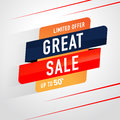 Icon Sale and special offer. 50% off. Vector illustration.