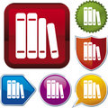 Icon series: book (vector) Royalty Free Stock Photos