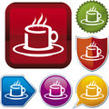 Icon series: coffee cup Stock Images