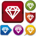 Icon series: diamond Royalty Free Stock Photos