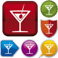 Icon series: drink Royalty Free Stock Photo