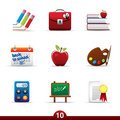 Icon series - education Royalty Free Stock Image
