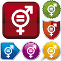 Icon series: equality (vector) Stock Photography