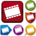 Icon series: film (vector) Stock Photography