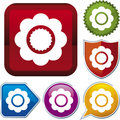 Icon series: flower (vector) Royalty Free Stock Image