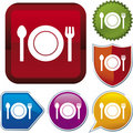 Icon series: food (vector) Royalty Free Stock Image