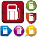 Icon series: gas station Stock Image