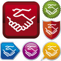 Icon series: handshake (vector) Royalty Free Stock Photo