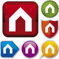 Icon series: house (vector) Royalty Free Stock Images