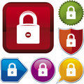 Icon series: lock (vector) Stock Photo