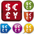 Icon series: money (vector) Royalty Free Stock Photos