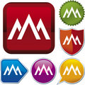 Icon series: mountain (vector) Royalty Free Stock Photo