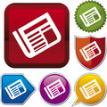 Icon series: newspaper (vector) Royalty Free Stock Image