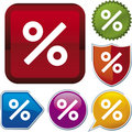 Icon series: percent Stock Image