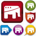 Icon series: republican Royalty Free Stock Photo
