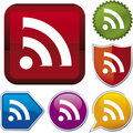 Icon series: RSS (vector) Royalty Free Stock Image