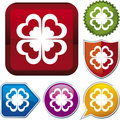 Icon series: shamrock Royalty Free Stock Photo