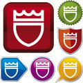 Icon series: shield (vector) Royalty Free Stock Image