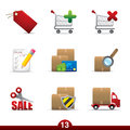 Icon series - shopping Royalty Free Stock Photo
