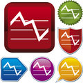 Icon series: stock chart Stock Photo