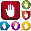 Icon series: stop hand Stock Image