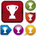 Icon series: trophy (vector) Royalty Free Stock Photography