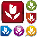 Icon series: tulip Royalty Free Stock Photography