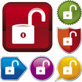 Icon series: unlock (vector) Royalty Free Stock Images