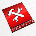 Icon service Stock Photography