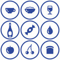 Icon set– food and drink (Vector) Royalty Free Stock Photos