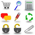 Icon set 3d Stock Image