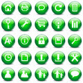 Icon set 7, green Stock Image