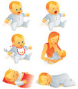 Icon set - baby life scenes. I Royalty Free Stock Photo