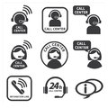 Icon set call center vector Stock Image