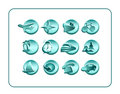 Icon Set with clipping paths Royalty Free Stock Image