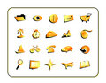 Icon Set with clipping paths Royalty Free Stock Photo