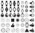 Icon set clocks vector illustration Royalty Free Stock Photography