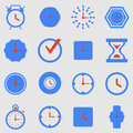 Icon set clocks vector illustration Stock Images