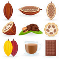 Icon Set Cocoa Stock Photos
