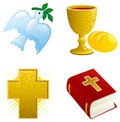 Icon set for easter Stock Photography