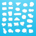 Icon set of empty speech bubbles, think clouds. Collection of comics talk balloon symbols