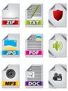 Icon set for files Royalty Free Stock Photo