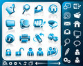 Icon set of internet Stock Photos