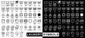 Icon set of laundry symbols Royalty Free Stock Photo