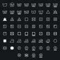 Icon set of laundry, washing symbols isolated on white background Royalty Free Stock Photo