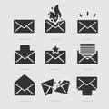 Icon Set Mail Royalty Free Stock Photo