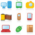 Icon set Media Royalty Free Stock Photos