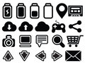 Icon set media computer Royalty Free Stock Image