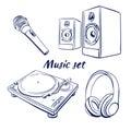 Icon set music